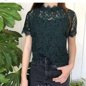 Zara emerald green top